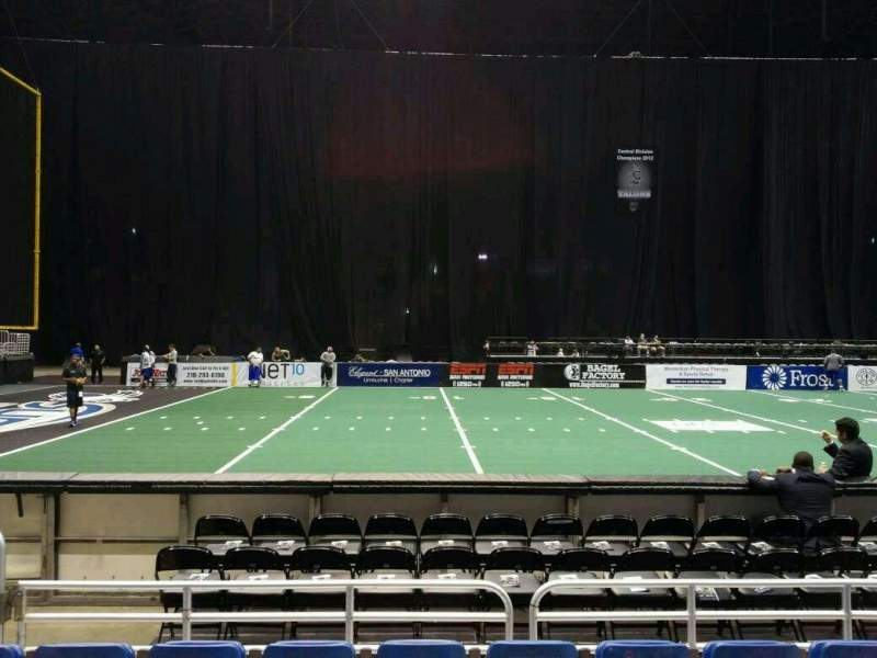 Seating view for Alamodome Section 102 Row 4 Seat 8