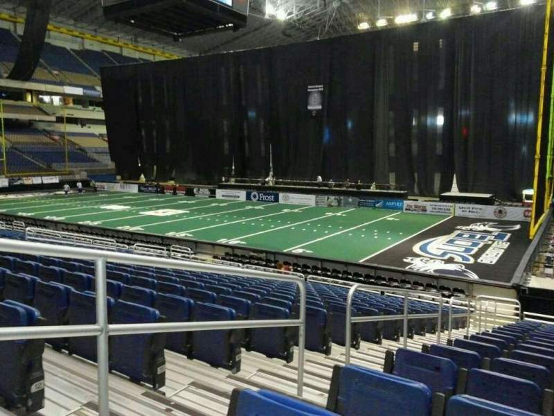 Seating view for Alamodome Section 143 Row 14 Seat 12
