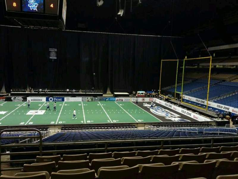 Seating view for Alamodome Section 144 Row 24 Seat 20
