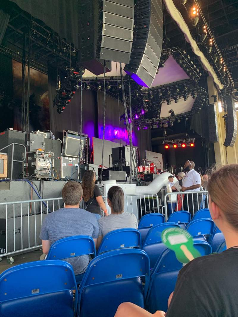 Seating view for Coastal Credit Union Music Park at Walnut Creek Section 3 Row I Seat 18