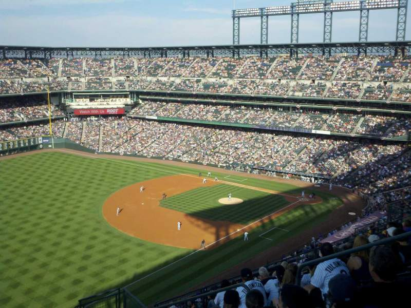 Seating view for Coors Field Section U346 Row 20 Seat 8