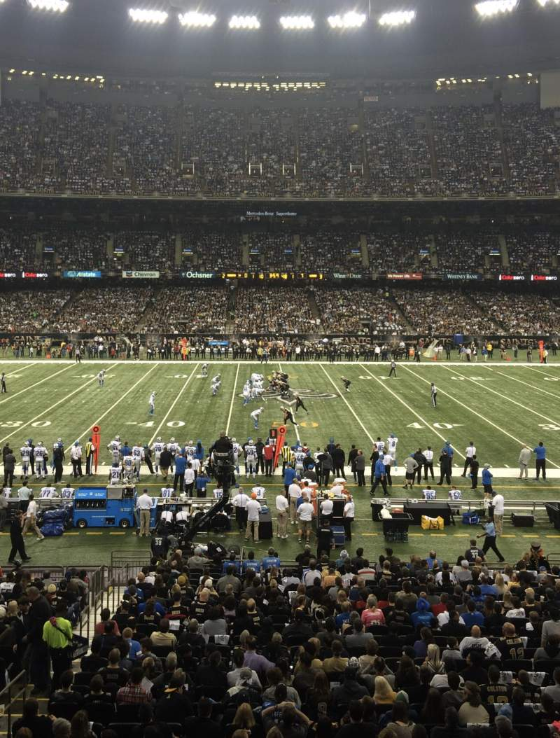 Seating view for Mercedes-Benz Superdome Section 223 Row A Seat 4