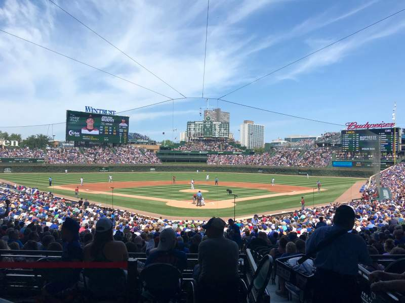 Wrigley Field Section Ga Home Of Chicago Cubs