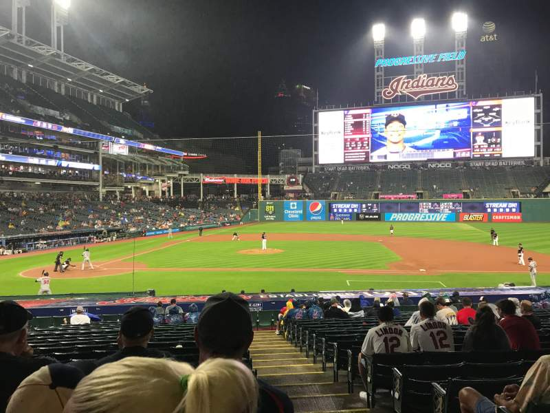 Seating view for Progressive Field Section 146 Row AA Seat 1