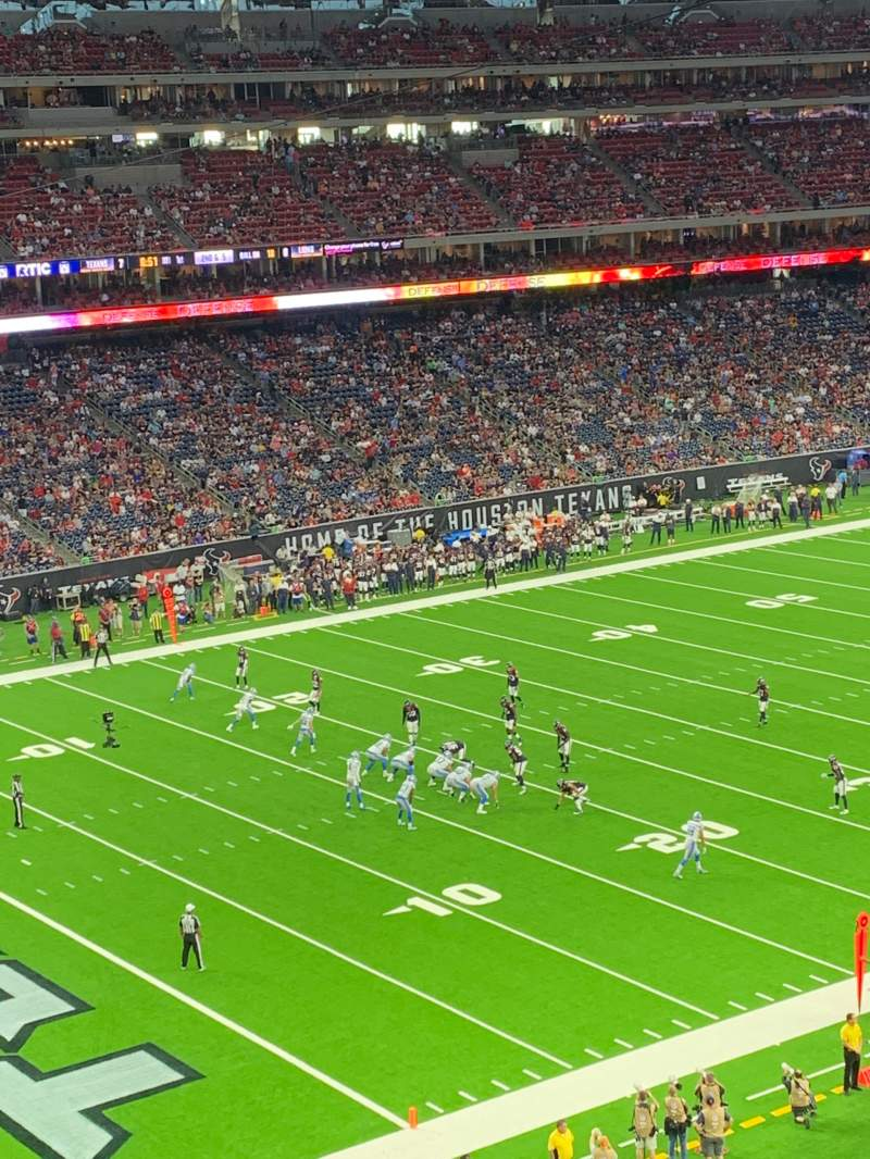 Seating view for NRG Stadium Section 343 Row R Seat 10