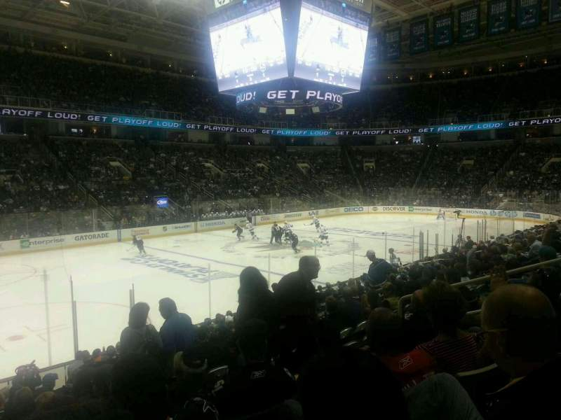 Seating view for SAP Center at San Jose Section 117 Row 4 Seat 8