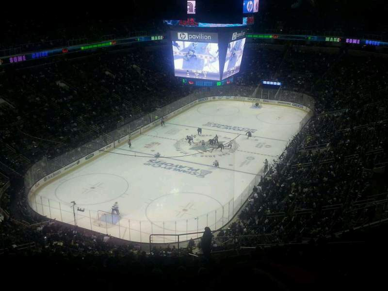Seating view for SAP Center Section P21 Row 1 Seat 1