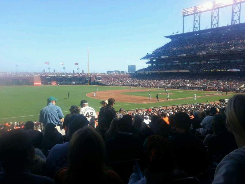 Seating view for AT&T Park Section 128 Row 32 Seat 8