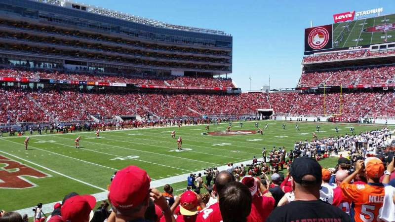 Seating view for Levi's Stadium Section 122 Row 16 Seat 4