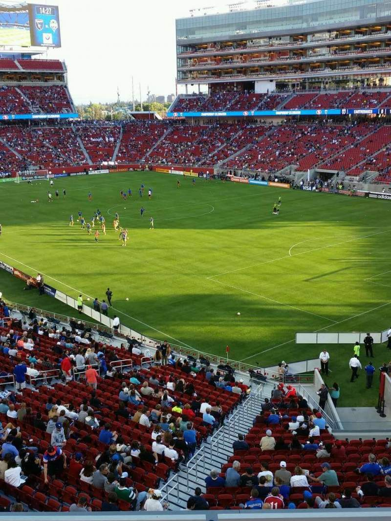 Levi's Stadium, section: 208, row: 3, seat: 2