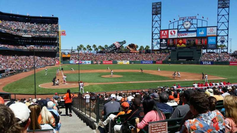 Seating view for AT&T Park Section 112 Row 26 Seat 1
