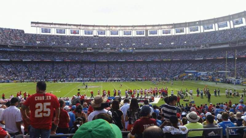 Seating view for Qualcomm Stadium Section P6 Row 4 Seat 9
