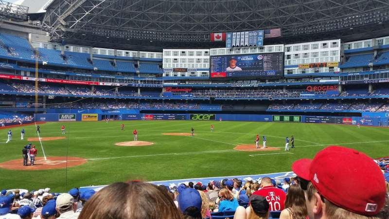 Seating view for Rogers Centre Section 119R Row 24 Seat 4