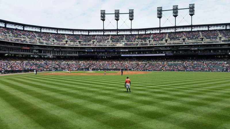 Seating view for Comerica Park Section 104 Row A Seat 16