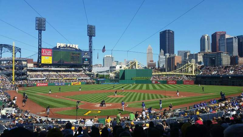 Seating view for PNC Park Section 115 Row R Seat 17