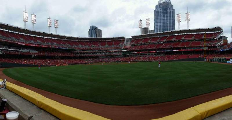 Seating view for Great American Ball Park Section 145 Row A Seat 9