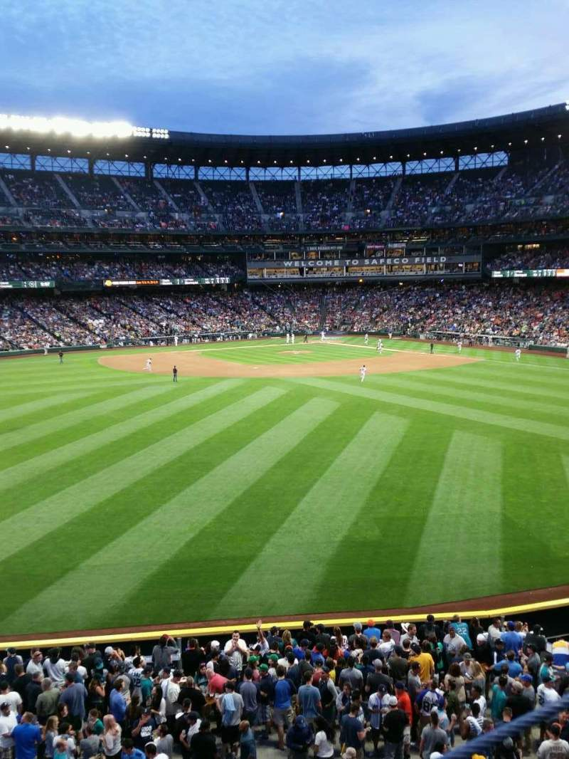 Seating view for Safeco Field Section 187 Row 1 Seat 6