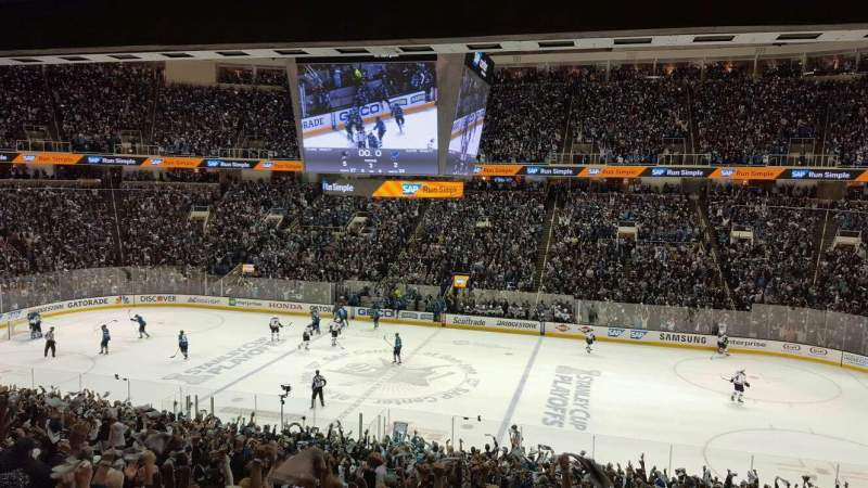 Seating view for SAP Center at San Jose Section C10 Row 1