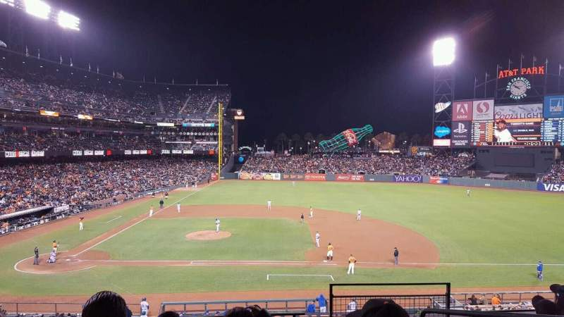 Seating view for AT&T Park Section 209 Row E Seat 2