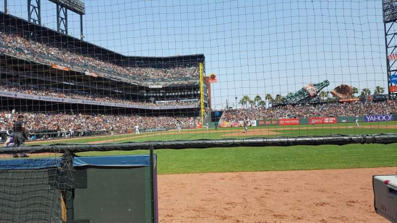 Seating view for Oracle Park Section 109 Row AA Seat 15