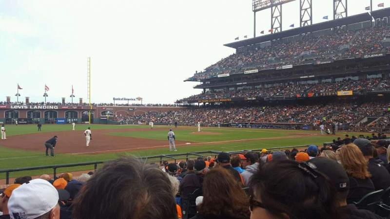 Seating view for AT&T Park Section 126 Row 11 Seat 4