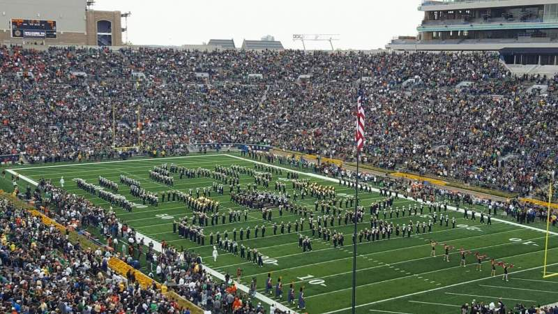 Seating view for Notre Dame Stadium Section 104 Row 24 Seat 19