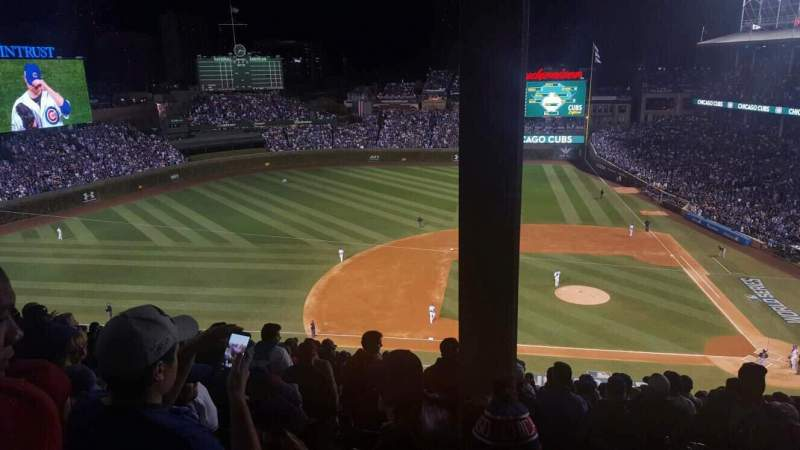 Seating view for Wrigley Field Section 514 Row 4 Seat 101