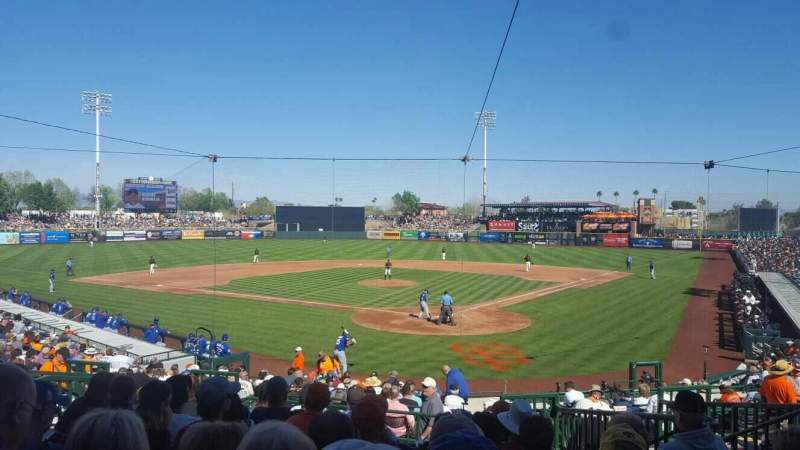 Seating view for Scottsdale Stadium Section 301 Row 3 Seat 7