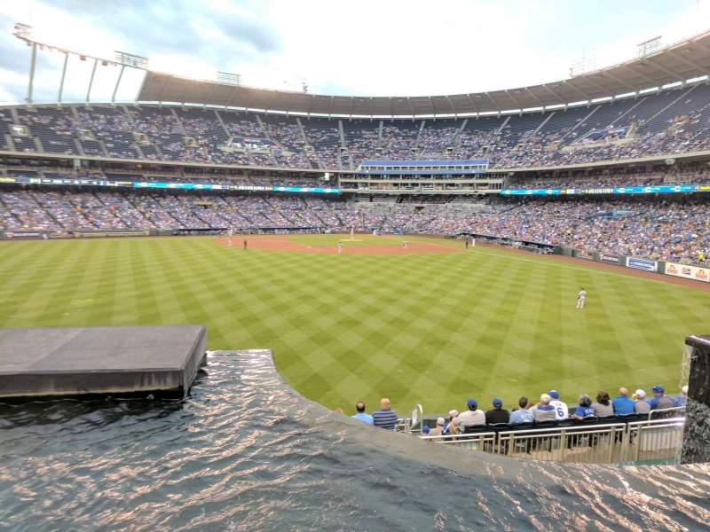 Seating view for Kauffman Stadium Section 202 Row A Seat 1
