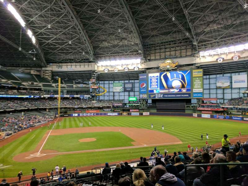 Seating view for Miller Park Section 215 Row 14 Seat 17