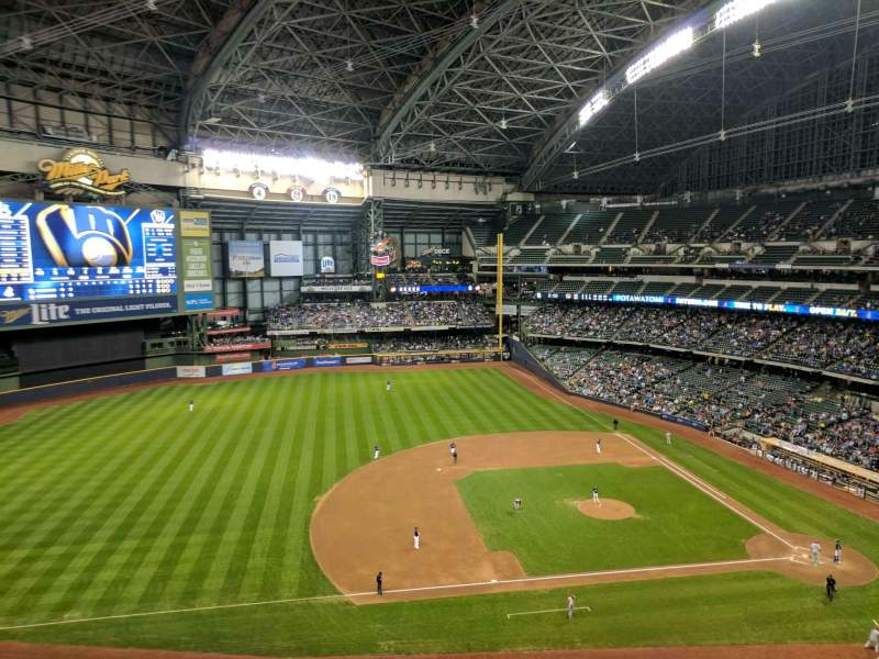 Seating view for Miller Park Section 430 Row 4 Seat 11