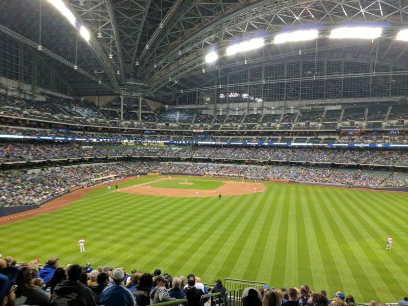Seating view for Miller Park Section 201 Row 14 Seat 1