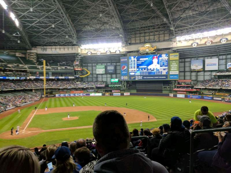 Seating view for Miller Park Section 215 Row 15 Seat 20
