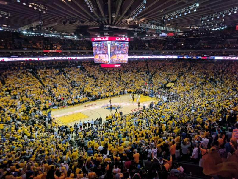 Seating view for Oracle Arena Section M15 Row 2 Seat 3