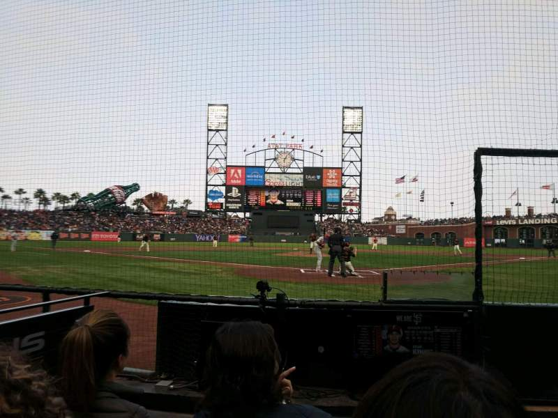 Seating view for Oracle Park Section 115 Row CCC Seat 13