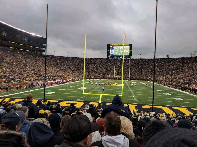 Seating view for Michigan Stadium Section 34 Row 23 Seat 18