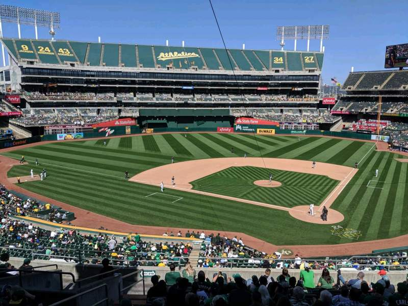 Seating view for Oakland Coliseum Section Club Suite 38 Row 1 Seat 1