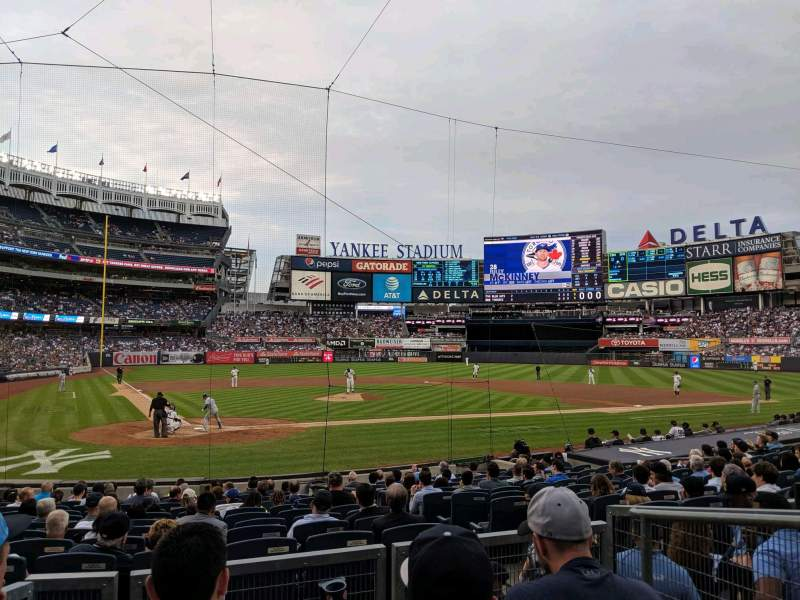 Seating view for Yankee Stadium Section 118 Row 4 Seat 3