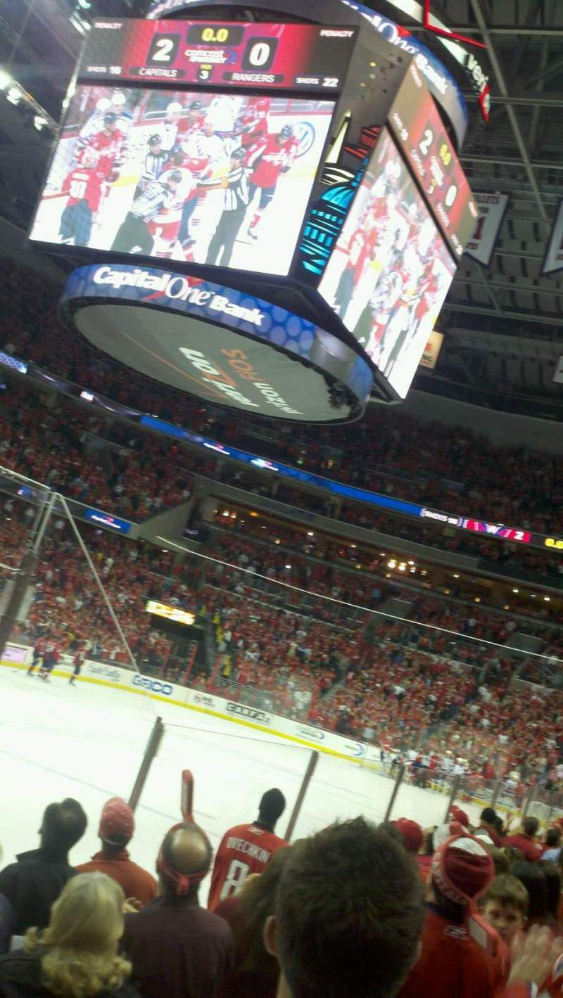 Seating view for Verizon Center Section 108 Row e Seat 12