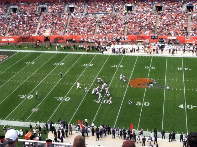 Seating view for FirstEnergy Stadium Section 509 Row 8 Seat 5