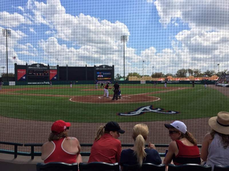 Seating view for ESPN Wide World of Sports Complex Section 113 Row D Seat 12