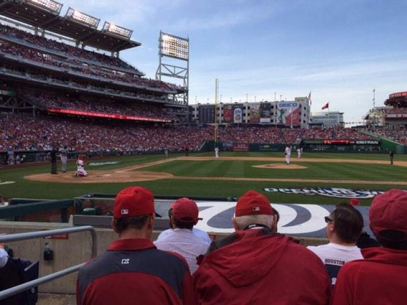 Seating view for Nationals Park Section 128 Row H Seat 15