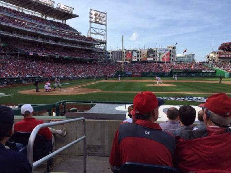 Seating view for Nationals Park Section 128 Row H Seat 16