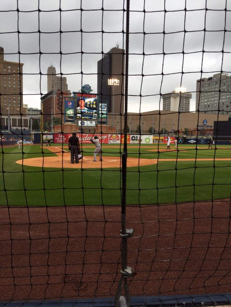 Seating view for Fifth Third Field Section 112 Row B Seat 1