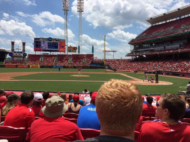 Seating view for Great American Ball Park Section 118 Row O Seat 6