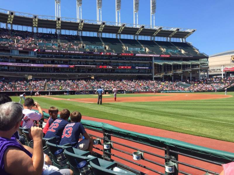 Seating view for Progressive Field Section 131 Row C Seat 1