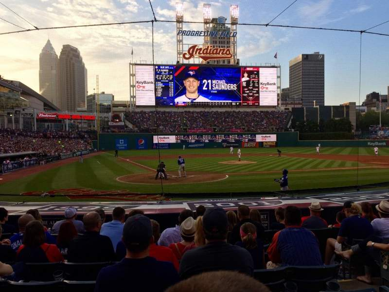 Seating view for Progressive Field Section 151 Row N Seat 4