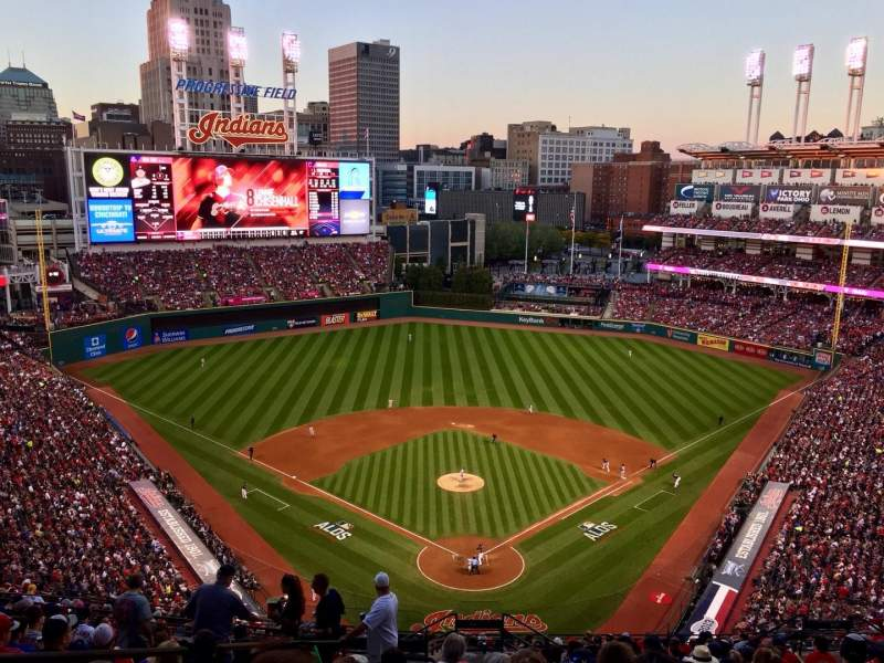 Seating view for Progressive Field Section 554 Row S Seat 23