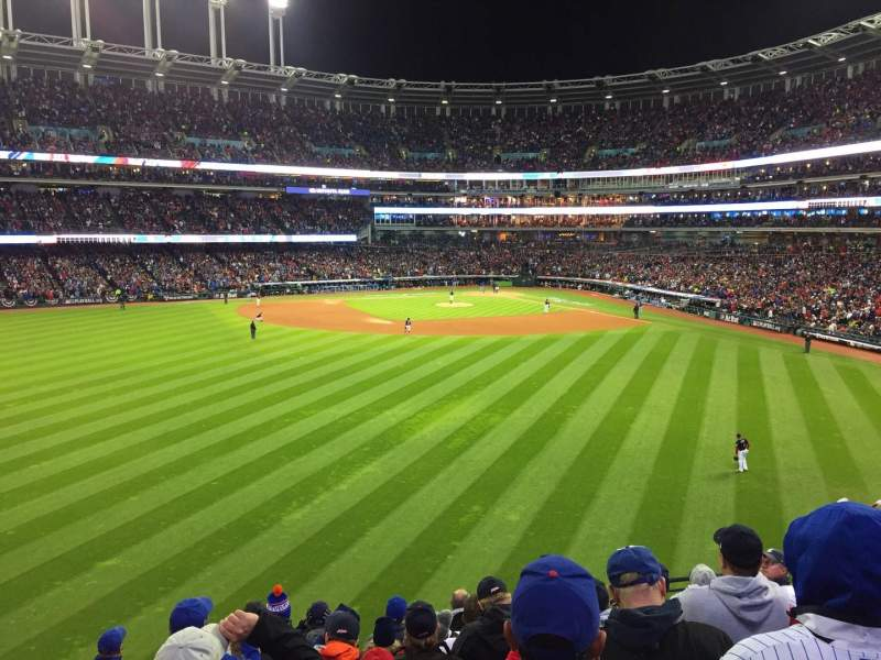 Seating view for Progressive Field Section 183 Row J Seat 11
