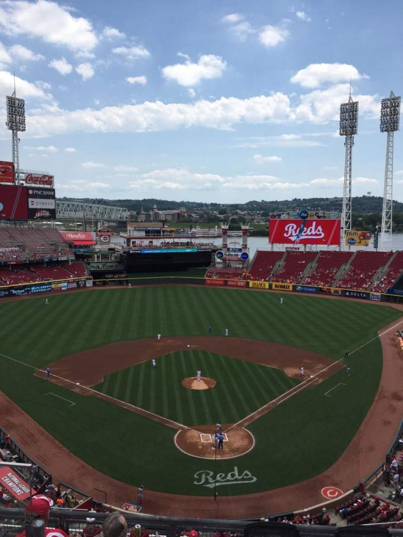Seating view for Great American Ball Park Section 523 Row C Seat 16